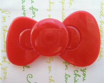 SALE Jumbo bow cabochons 1pc RED 80mm x 48mm