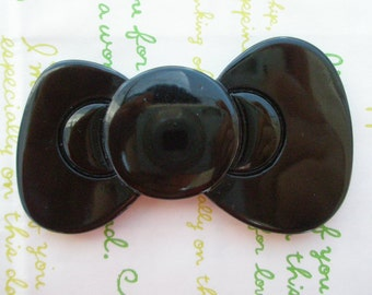 sale Jumbo Hello Kitty bow cabochons 1pc BLACK 80mm x 48mm