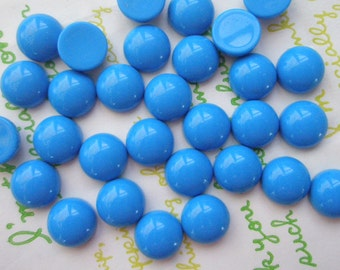 SALE Opaque Resin Dome Cabochons 10.5mm 20pcs Sky Blue