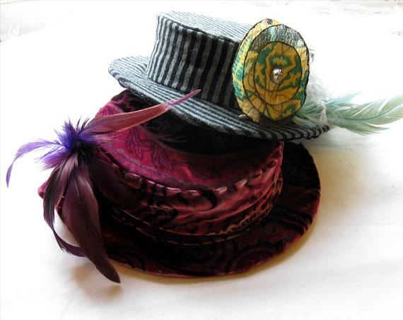 Paisley Velvet Hat / Edwardian Style