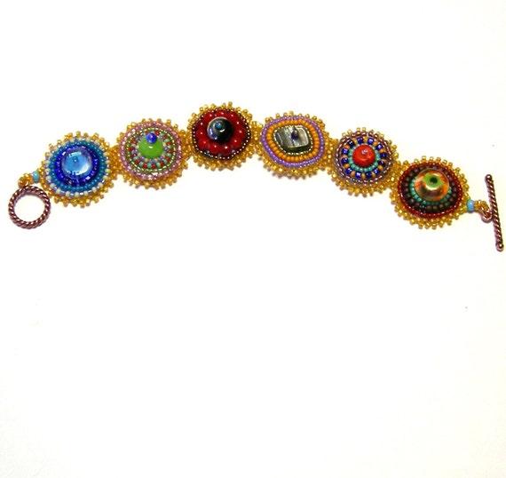 Multicolor beaded bracelet RESERVED for KIM