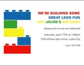 Building Blocks (Lego inspired) Birthday Invites