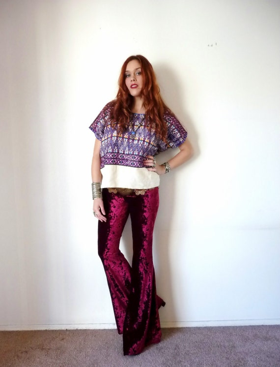 Vintage EMBROIDERED TRIBAL Cotton Blouse S M L
