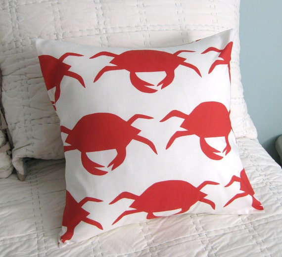 NEW Crabby Crab Pillow Cover