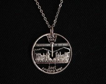 Utah Statehood Quarter Necklace