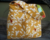 Reversible Diaper/Craft  Bag - Happy Birds