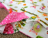 Double sided owl print Hootie Hoot Hooter Hider with adjustable strap and pacifier pocket