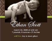 Wallpaper - Custom Birth Announcement Photo Card