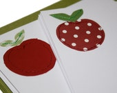 Sewn stationery - apple