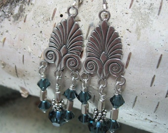Plumed Chandelier Earrings