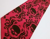 Damask necktie mens skull tie custom colors available