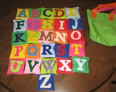 Learn your alphabet with bean bags