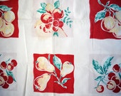 Retro Fruit and Cherries Tablecloth - SALE