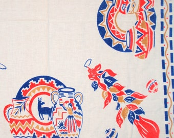 Vintage Tablecloth with Southwest Theme