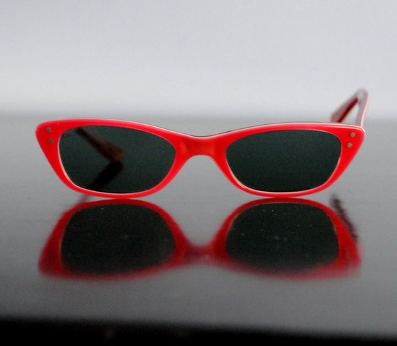 Retro Red Sunglasses Made in France