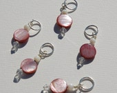 Pink Shell Stitch Markers