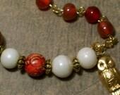 Autumn Owl Charm Bracelet