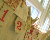 Christmas Advent Pockets Banner reserved for Katie
