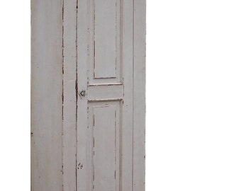 Farmhouse primitive chimney cupboard painted rustic colonial  country shutter cabinet antique  reproduction furniture