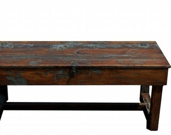 Rustic primitive coffee farm table farmhouse painted pine country style painted custom furniture