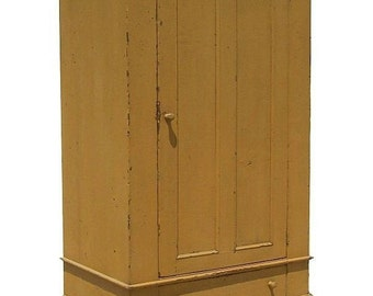 Primitive wardrobe armoire tv cupboard cabinet entertainment center painted colonial country reproduction furniture
