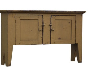 Primitive country Huntboard sideboard sofa hall table farmhouse reproduction style furniture