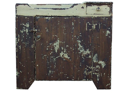 Painted country primitive dry sink cupboard cabinet farmhouse farm Early American reproduction furniture