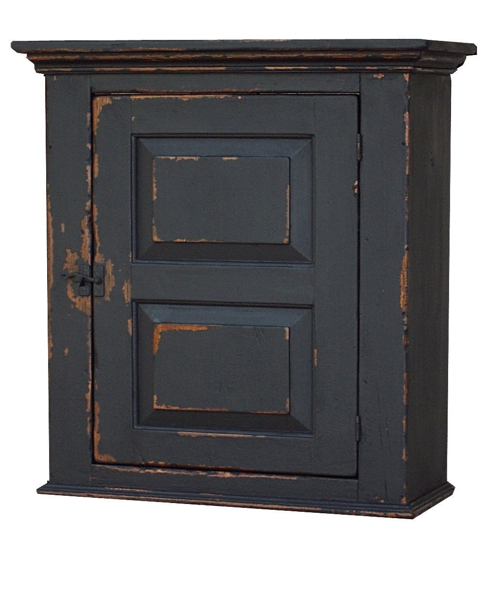 Primitive Farmhouse Wall Cabinet Hanging Cupboard Painted