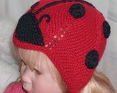 Baby Lady Bug cashmere hat