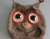 Cashmere Owl hat for children and dolls