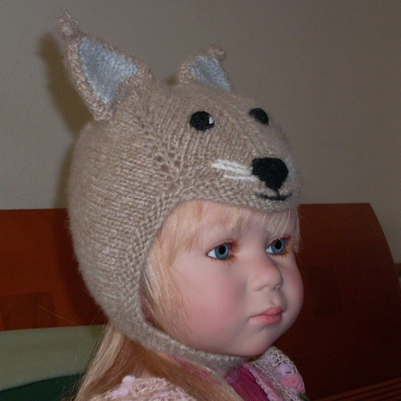 Cute 'Squirrel'cashmere hat  for your precious bundle of joy  and  Perfect for Photographer's Prop