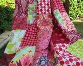 Custom Order 56X64 Random Patchwork Minky Blanket or Quilt You Choose Fabrics