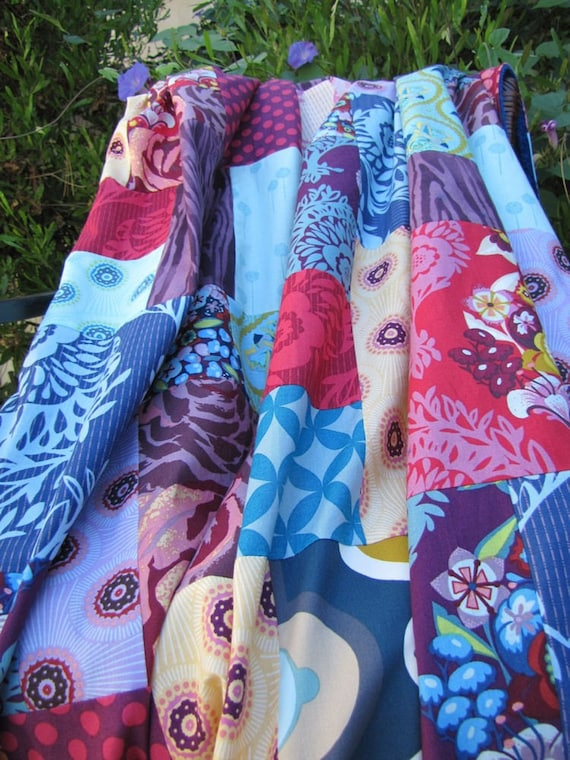 40X56 Custom Order Random Patchwork and Minky Blanket You Choose Fabrics