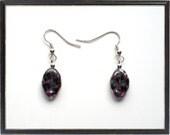 Europa Czech Amethyst Glass Earrings