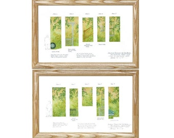 Scenic Painter's Elevations - 4 framed pieces