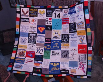 King size Patchwork Tshirt Quilt - CUSTOM ORDERS