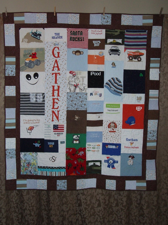 Large throw size Quilt made from Baby clothes - CUSTOM ORDERS