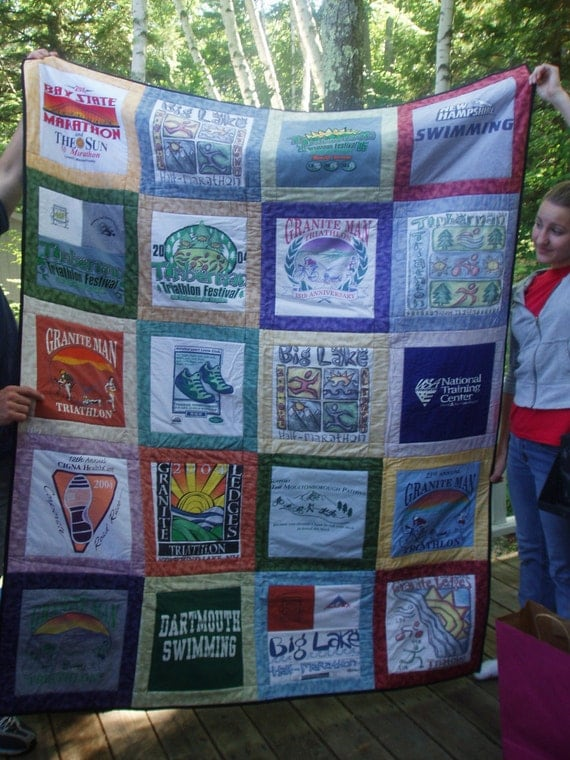 Tshirt Quilt CUSTOM ORDERS 20 squares TWIN size