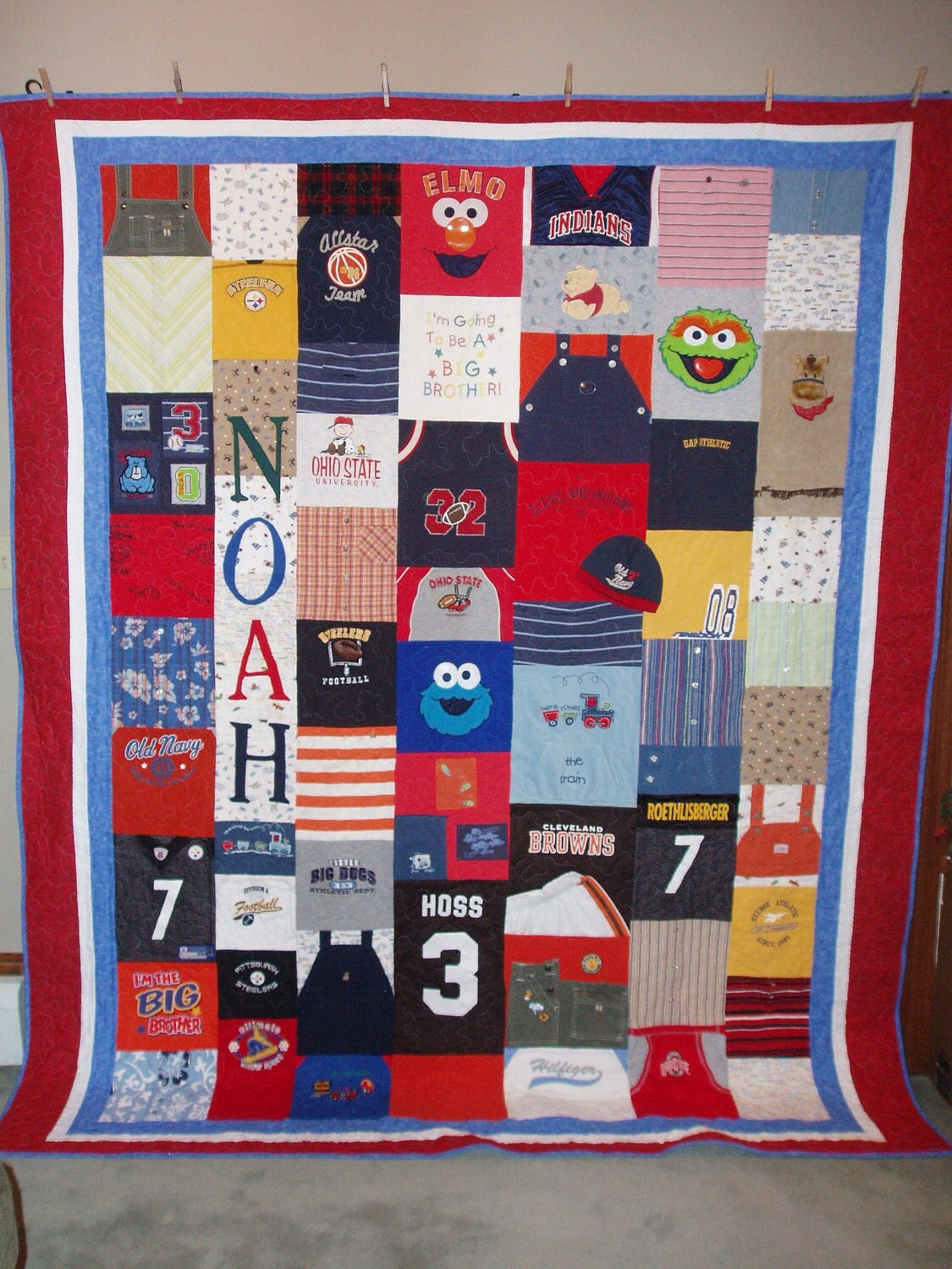 Patchwork Style Quilt made from baby clothes CUSTOM ORDERS