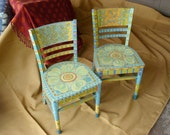 Chairs -Charming, Hand Painted   RESERVED