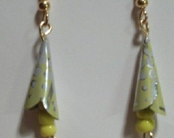 calla lilly 'GreenWear' earrings