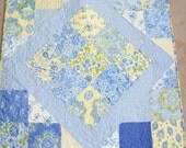 Yellow / Blue  Charm pack Table topper French Country / Shabby Chic