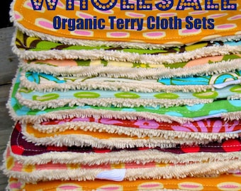 WHOLESALE Organic Terry Cloths - 12 sets of 3