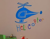 Helicopter Vinyl Decal