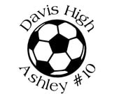 Soccer Car Decal (personalized)