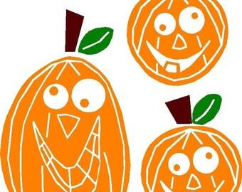 ON SALE Halloween Pumpkin Vinyl Decals