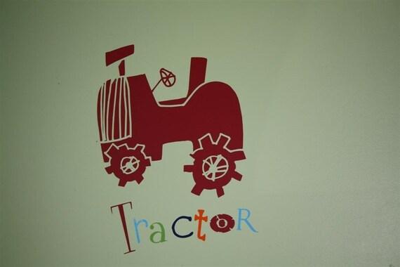 Tractor Vinyl Decal