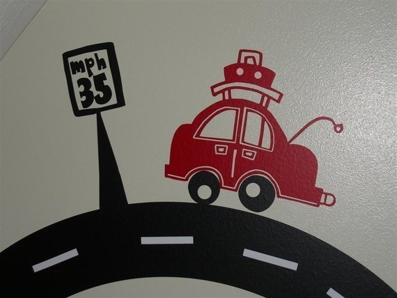 On the Road Again Vinyl Decal Set