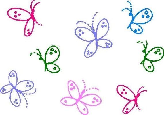 Butterflies Vinyl Wall Decals