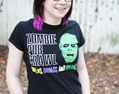 XLarge Ladies Zombie Pub Crawl Tshirt